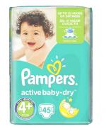 PAMPERS ACTIVE BABY DRY 4+ MAXI PLUS Pieluchy 9-16 kg - 45 szt.