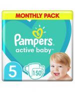 PAMPERS ACTIVE BABY DRY 5 JUNIOR Pieluchy 11-18 kg - 150 szt. - Apteka internetowa Melissa