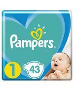 PAMPERS NEW BABY DRY 1 NEWBORN Pieluchy 2-5 kg - 43 szt. - Apteka internetowa Melissa