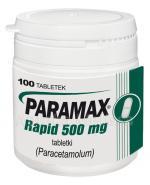 PARAMAX RAPID PARACETAMOL 500 mg - 100 tabl. - Apteka internetowa Melissa