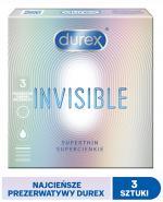 DUREX INVISIBLE Prezerwatywy dla większej bliskości - 3 szt.  - Apteka internetowa Melissa