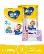 BEBIKO 3 JUNIOR Mleko modyfikowane następne dla niemowląt - 2 x 800 g + PREZENT Kubek niekapek  - Apteka internetowa Melissa