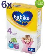 BEBIKO 4 JUNIOR Mleko modyfikowane następne dla niemowląt - 6 x 800 g - Apteka internetowa Melissa
