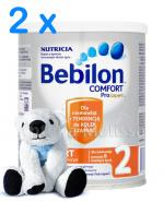 BEBILON 2 COMFORT PROEXPERT Mleko modyfikowane w proszku - 2 x 400 g + Prezent Miś sensoryczny - Apteka internetowa Melissa