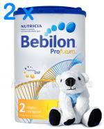 BEBILON 2 PROFUTURA Mleko modyfikowane w proszku - 2 x 800g + CLEANIC KINDII NEW BABY CARE Chusteczki do delikatnej skóry noworodków i niemowląt - 60 szt.  - Apteka internetowa Melissa