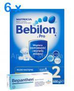 BEBILON 2 Z PRONUTRA+ Mleko modyfikowane w proszku - 6 x 1200 g + BEPANTHEN Derm krem - 30 g  GRATIS ! - Apteka internetowa Melissa