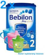 BEBILON 2 Z PRONUTRA+ Mleko modyfikowane w proszku - 2 x 800g  + CANPOL Kubek niekapek GRATIS ! - Apteka internetowa Melissa