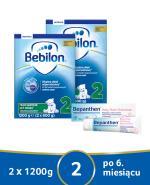 BEBILON 2 Z PRONUTRA+ Mleko modyfikowane w proszku - 2x1200 g + Bepanthen Baby maść - 30  - Apteka internetowa Melissa