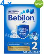 BEBILON 2 Z PRONUTRA Mleko modyfikowane w proszku - 4 x 1200 g + PREZENT Piłeczka-gryzak  - Apteka internetowa Melissa