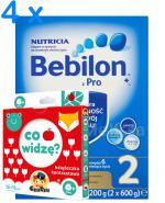 BEBILON 2 Z PRONUTRA+ Mleko modyfikowane w proszku - 4 x 1200 g + Prezent Książeczka CzuCzu - Apteka internetowa Melissa
