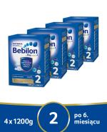 BEBILON 2 Z PRONUTRA+ Mleko modyfikowane w proszku - 4x1200g + mini wiaderko Skip HOP - Apteka internetowa Melissa