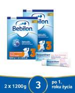 BEBILON 3 JUNIOR Z PRONUTRA+ Mleko modyfikowane w proszku - 2x1200 g + Bepanthen Baby maść - 30 g - Apteka internetowa Melissa