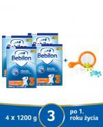 BEBILON 3 JUNIOR Z PRONUTRA+ Mleko modyfikowane w proszku - 4x1200 g + Puzzle pojazdy CzuCzu - Apteka internetowa Melissa