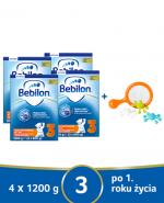 BEBILON 3 JUNIOR Z PRONUTRA+ Mleko modyfikowane w proszku - 4x1200 g + Talerz Skip Hop - Apteka internetowa Melissa