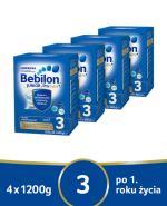 BEBILON 3 JUNIOR Z PRONUTRA+ Mleko modyfikowane w proszku - 4x1200g - Apteka internetowa Melissa