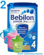 BEBILON 4 JUNIOR Z PRONUTRA+ Mleko modyfikowane w proszku - 2 x 800 g + CANPOL Kubek niekapek GRATIS ! - Apteka internetowa Melissa