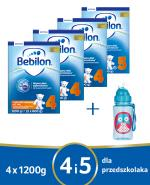 BEBILON 4 JUNIOR Z PRONUTRA+ Mleko modyfikowane w proszku - 3 x 1200 g + BEBILON 5 JUNIOR Z PRONUTRA+ Mleko modyfikowane w proszku - 1 x 1200 g  + Bidon  - Apteka internetowa Melissa