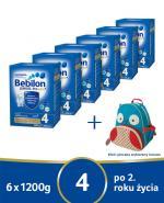 BEBILON 4 JUNIOR Z PRONUTRA+ Mleko modyfikowane w proszku - 6x1200 g + Skip Hop Plecak - Apteka internetowa Melissa