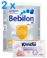 BEBILON AR PROEXPERT Mleko modyfikowane początkowe przeciw ulewaniom - 2 x 400 g + CLEANIC KINDII NEW BABY CARE Chusteczki do delikatnej skóry noworodków i niemowląt - 60 szt. GRATIS ! - Apteka internetowa Melissa