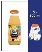 BOBO FRUT Sok wieloowocowy po 8 m-cu - 5 x 300 ml + Torba bobo frut - Apteka internetowa Melissa