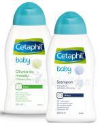 CETAPHIL BABY Oliwka do masażu z masłem SHEA - 300 ml + CETAPHIL BABY Szampon z naturalnym ekstraktem z rumianku - 300 ml - Apteka internetowa Melissa
