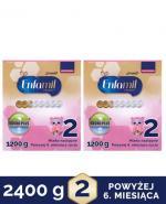 ENFAMIL 2 PREMIUM LIPIL 6-12 mcy Mleko modyfikowane - 2x1200 g + CLEANIC KINDII SKIN BALANCE Chusteczki do skóry normalnej - 4 x 72 szt. - Apteka internetowa Melissa
