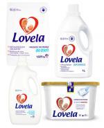 LOVELA Proszek do prania hipoalergiczny do białego - 1,625 kg + LOVELA Kapsułki do prania do bieli i kolorów - 228 ml + LOVELA Odplamiacz do tkanin - 1 l + Prezent LOVELA Płyn do płukania tkanin - 2 l - Apteka internetowa Melissa