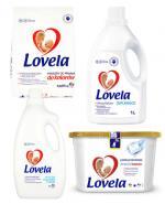 LOVELA Proszek do prania hipoalergiczny do koloru - 1,625 kg + LOVELA Kapsułki do prania do bieli i kolorów - 228 ml + LOVELA Odplamiacz do tkanin - 1 l + Prezent LOVELA Płyn do płukania tkanin - 2 l - Apteka internetowa Melissa