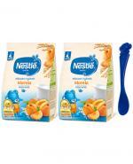 NESTLE Kaszka mleczno-ryżowa morela, po 4 miesiącu - 2 x 230 g + Nestle łyżeczka - Apteka internetowa Melissa