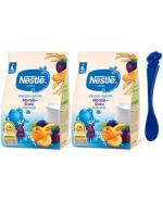 NESTLE Kaszka mleczno-ryżowa śliwka-morela po 4 m-cu - 2 x 230 g + Nestle łyżeczka - Apteka internetowa Melissa