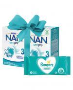 NESTLE NAN OPTIPRO 3 Mleko modyfikowane w proszku po 1 roku - 2 x 800 g + CLEANIC KINDII NEW BABY CARE Chusteczki do delikatnej skóry noworodków i niemowląt - 60 szt. - Apteka internetowa Melissa