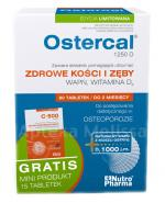 OSTERCAL 1250 D - 60 tabl. (blistry) + C500 FORTE - 15 tabl. GRATIS !  - Apteka internetowa Melissa