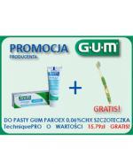 SUNSTAR GUM PAROEX Pasta do zębów 0,06% CHX - 75 ml + Szczoteczka TechniquePro - 1 szt  - Apteka internetowa Melissa