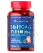 PURITAN`S PRIDE Olej omega-3 1000mg - 100 kaps. - Apteka internetowa Melissa
