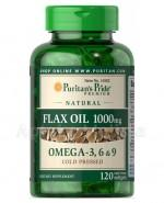 PURITAN'S PRIDE FLAX OIL Naturalny olej lniany 1000 mg - 120 kaps. - Apteka internetowa Melissa
