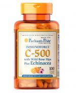 PURITAN'S PRIDE Witamina C 500 mg & Echinacea - 100 tabl. - Apteka internetowa Melissa