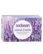 Sodasan Mydło ekologiczne z lawendą i rumiankiem - 100 g - cena, opinie, skład