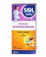 SOLBABY WZMOCNIENIE 1+ Syrop z naturalnego miodu + witaminy - 100 ml - Apteka internetowa Melissa