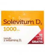SOLEVITUM D3 1000 j.m - 60 kaps.+ 15 kaps.GRATIS - Apteka internetowa Melissa