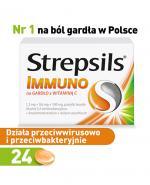 STREPSILS IMMUNO Na gardło z witaminą C -  24 past. - Apteka internetowa Melissa