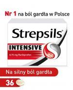 Strepsils Intensive - 36 tabletek do ssania Na ból gardła - cena, opinie, stosowanie