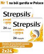 Strepsils z miodem i cytryna x 48tbl - Apteka internetowa Melissa