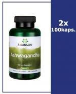 SWANSON Ashwagandha 450 mg - 2x100 kaps. - Apteka internetowa Melissa