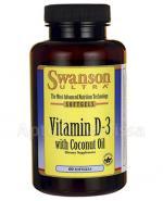 SWANSON Witamina D3 2000 IU z olejem kokosowym - 60 kaps. - Apteka internetowa Melissa