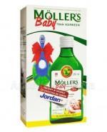 MOLLERS BABY Tran norweski o aromacie cytrynowym - 250 ml + JORDAN Szczoteczka do zębów GRATIS! - Apteka internetowa Melissa