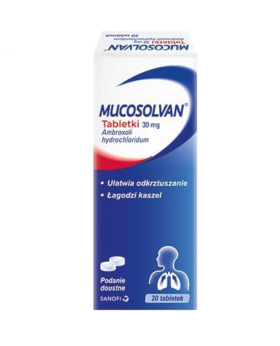 MUCOSOLVAN 30 mg tabletki na kaszel - 20 szt. - Apteka internetowa Melissa