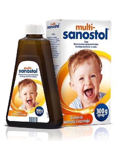 MULTI-SANOSTOL Syrop wielowitaminowy preparat dla dzieci - 300 g - Apteka internetowa Melissa