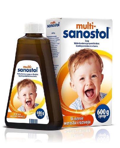MULTI-SANOSTOL Lek w postaci syropu -  wielowitaminowy preparat dla dzieci - 600 g - Apteka internetowa Melissa