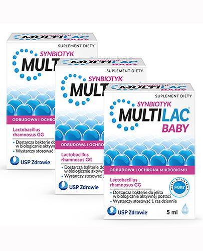 MULTILAC BABY Synbiotyk krople - 3 x 5 ml