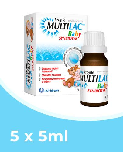 MULTILAC BABY Synbiotyk krople - 5 x 5 ml